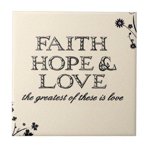 Pergamino de la fe, de la esperanza y del amor teja