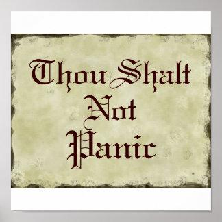 Pergamino del humor del pánico de Shalt   de mil n Póster