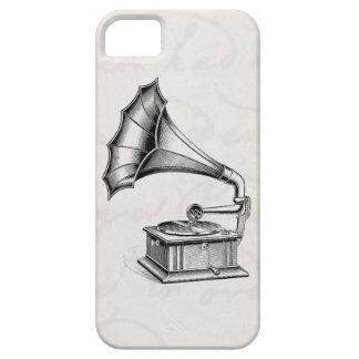 Pergamino del Musical del tocadiscos del fonógrafo iPhone 5 Cárcasas