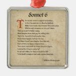 Pergamino del soneto 6 de Shakespeare Adornos De Navidad
