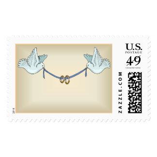 Pergamino especial de las palomas del portador (4) sellos