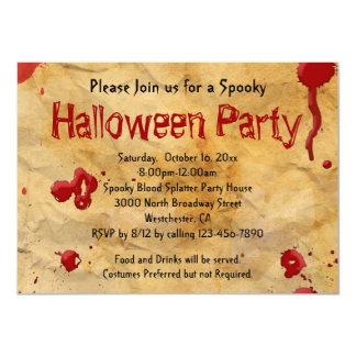 Pergamino, invitaciones de Halloween de la Invitación 11,4 X 15,8 Cm