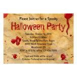 Pergamino, invitaciones de Halloween de la salpica