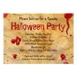 Pergamino, invitaciones de Halloween de la salpica Anuncios