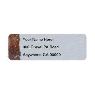 Pergamino oxidado del gris del metal etiqueta de remitente