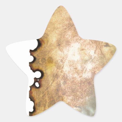 Pergamino quemado II Calcomanía Forma De Estrella Personalizadas