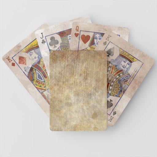 Pergamino soñoliento barajas de cartas