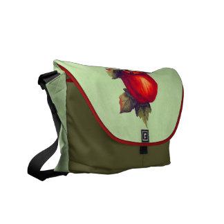 Pergamino verde rojo bolsas messenger