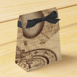 pergamino viejo del steampunk caja para regalos de fiestas
