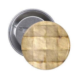 Pergamino viejo, papel del mapa del tesoro chapa redonda 5 cm