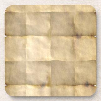 Pergamino viejo, papel del mapa del tesoro posavasos