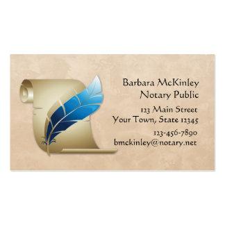 Pergamino y canilla tarjetas de visita