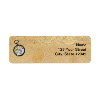 Pergamino y compás antiguos etiquetas de remite