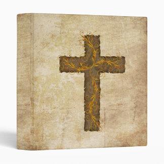 Pergamino y cruz del 4:12 de los hebreos
