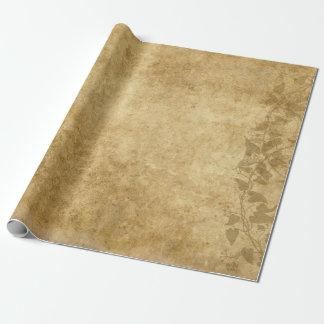 Pergamino y vides hermosos del papel del vintage papel de regalo