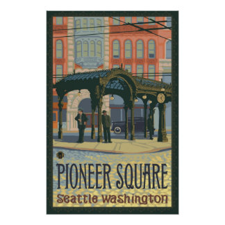Pergola - Pioneer Square Seattle, WA Travel Poster