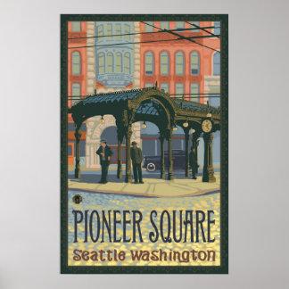 Pérgola - Seattle cuadrada pionera, poster del via
