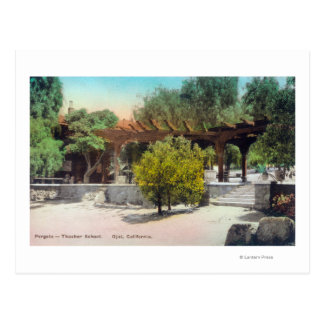 Pérgola ViewOjai, CA de la escuela de Thacher Tarjeta Postal