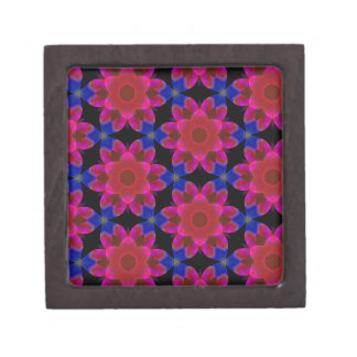 Peri Red and Blue Floral Gift Box