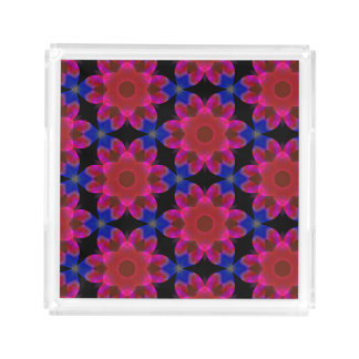 Peri Red and Blue Floral Perfume Tray