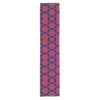 Peri Red and Blue Floral Short Table Runner