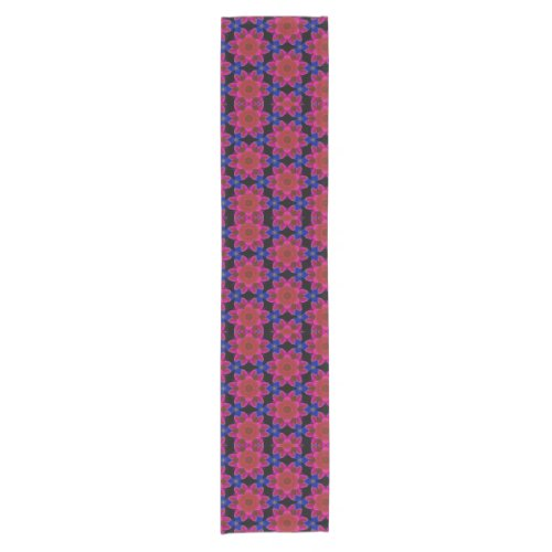 Peri Red and Blue Floral Table Runner