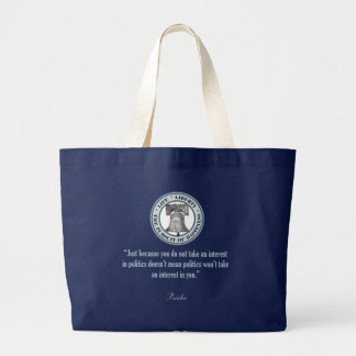 Pericles Quote Large Tote Bag