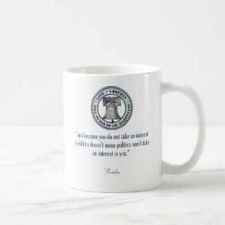 Pericles Quote Classic White Coffee Mug