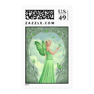 Peridot Birthstone Fairy Postage
