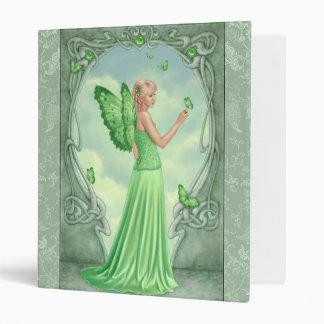 Peridot Birthstone Green Butterfly Fairy 3 Ring Binder