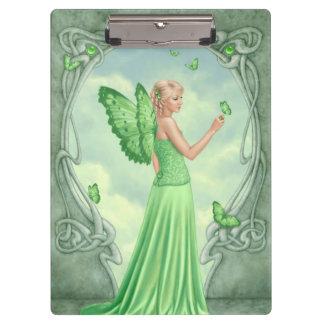 Peridot Birthstone Green Butterfly Fairy Clipboard