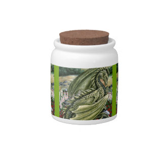 Peridot Dragon 3up Candy Jars