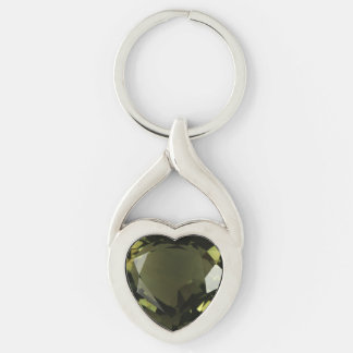 Peridot Heart Keychain