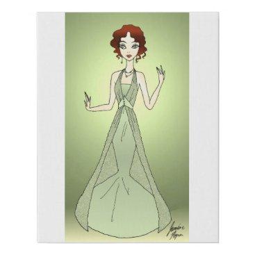 jasmineflynn Peridot Princess Faux Canvas Print