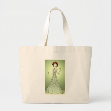 jasmineflynn Peridot Princess Large Tote Bag