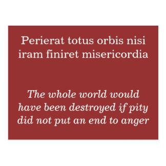 Perierat totus orbis nisi postcards
