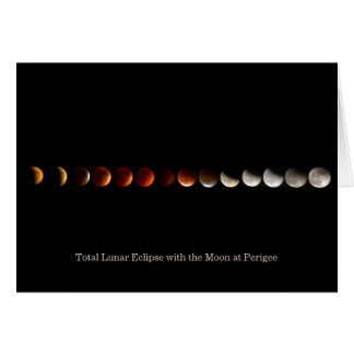 Perigee Moon Total Lunar Eclipse Photograph Card