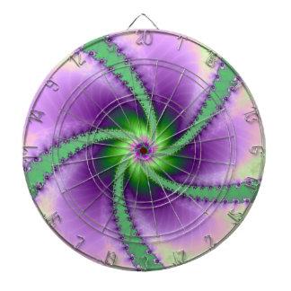 Perinola verde y púrpura tabla dardos