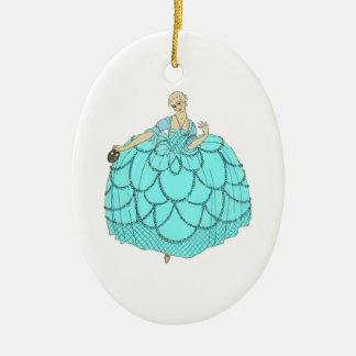 Period Ball Gown Ceramic Ornament