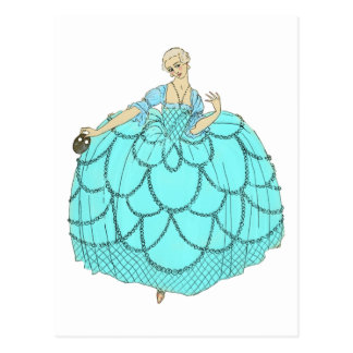 Period Ball Gown Postcard