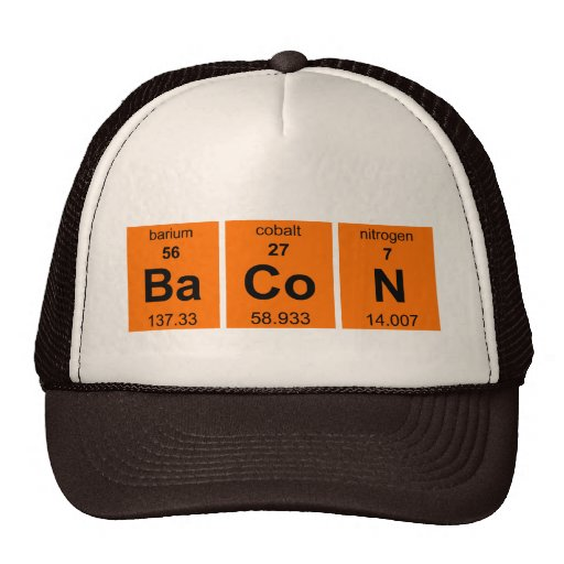 Periodic BaCoN $17.95 (11 colors) Truckers Cap Trucker Hat