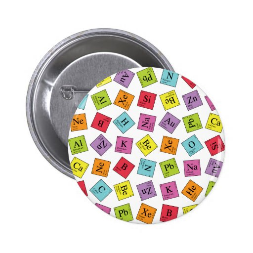 Periodic Elements Pinback Button