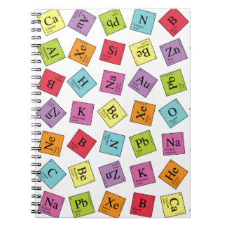 Periodic Elements Spiral Notebook