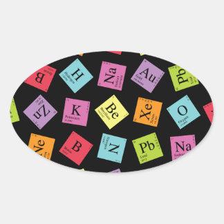 Periodic Elements Oval Sticker