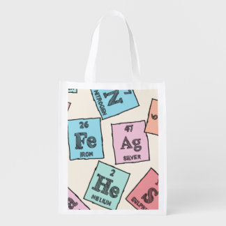 Periodic Elements Pattern Grocery Bag