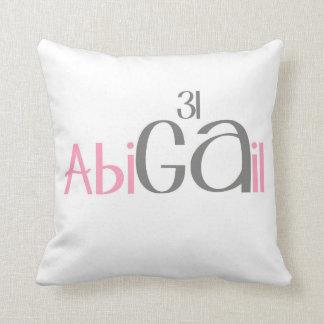 Periodic Name Throw Pillow(Abigail) Pillow