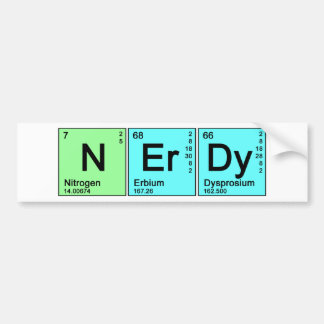Periodic Nerd Bumper Sticker