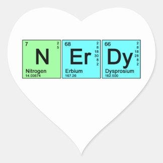 Periodic Nerd Heart Sticker