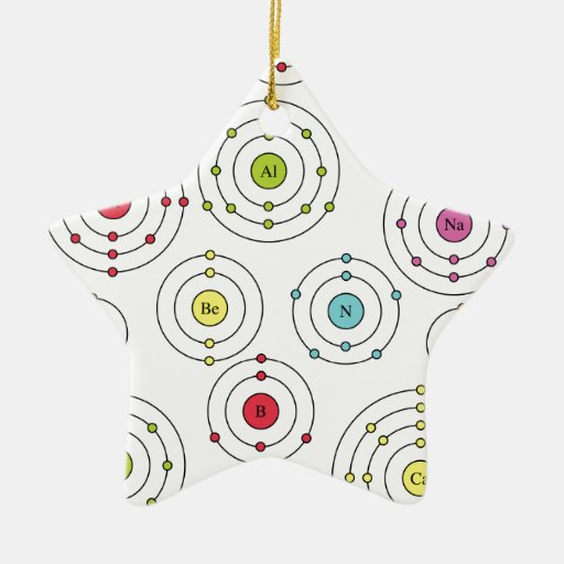 Periodic Shells Double-Sided Star Ceramic Christmas Ornament