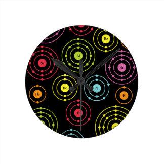 Periodic Shells Round Clock